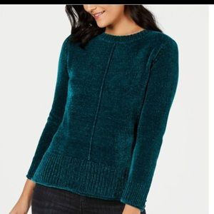 Style & Co. Teal Chenille Pullover Sweater